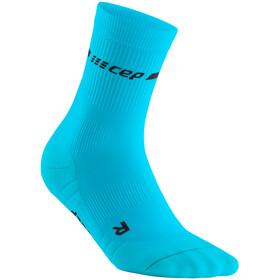 cep Neon Mid-Cut Socks Women neon blue